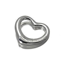 Tiffany & Co. 925 Sterling Silver Open Heart Diamond Pendant
