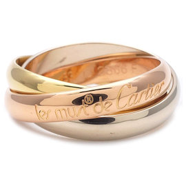 Cartier Trinity 18k White Rose Yellow Gold Ring Size 6.25