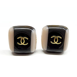 Chanel Gold Tone Hardware and Plastic Clip Earrings