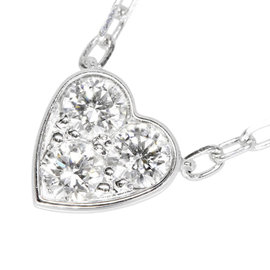 Cartier Love 18K White Gold with Diamond Pendant Necklace
