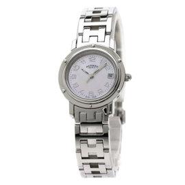 Hermes Clipper Nacre CL4.210 24mm Womens Watch