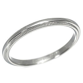 Tiffany & Co. Milgrain 950 Platinum Ring Size 8.5