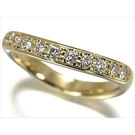 Mikimoto 18K Yellow Gold with 0.22ctw Diamond Ring Size 5