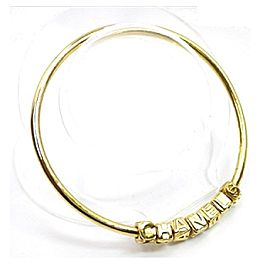 Chanel Gold Tone Hardware CC Mark Bracelet