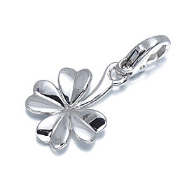 Chanel 18K White Gold Four-Leaf Clover Charm Pendant