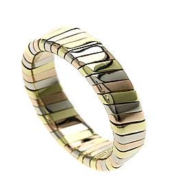 Bulgari 18K Tubogas 3 color Ring Size 3.5