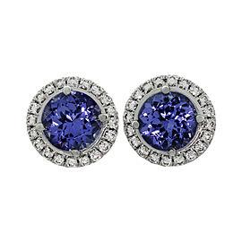 Tiffany & Co. Soleste 950 Platinum Tanzanite & Diamond Earrings