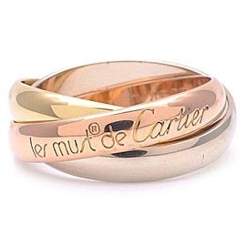 Cartier Trinity Ring 18K White, Rose Gold and Yellow Gold Size 5