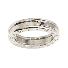 Bulgari B-Zero 1 18K White Gold Band Ring Size 5.75