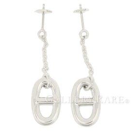 Hermes Farandole Chaine d'Ancre 925 Sterling Silver Motif Earrings