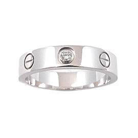 Cartier Mini Love Ring 18K White Gold with Diamond Size 5.5