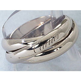Cartier Trinity Ring 18K White Gold Size 7.25