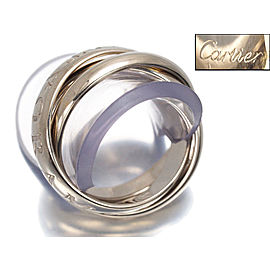 Cartier Trinity Ring 18K White Gold Size 5.25