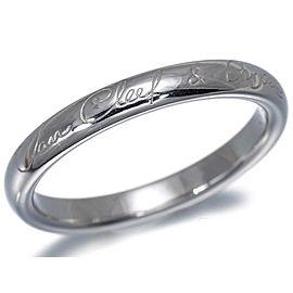 Van Cleef & Arpels Platinum Infini Signature Ring Size 8.75