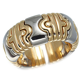 Bulgari Parentesi 18K Yellow Gold and Stainless Steel Ring Size 6.75