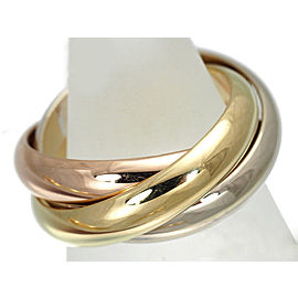 Cartier Trinity Ring 18K Tri-Gold Size 4.75