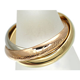 Cartier Trinity Ring 18K Tri-Gold Size 6