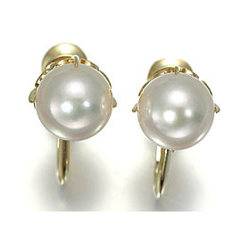 Mikimoto 14K Yellow Gold Akoya Cultured Pearl Earrings