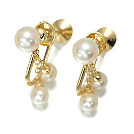 Mikimoto 18K Yellow Gold and Akoya Cultured Pearl Earrings