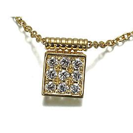 Dior 18K Yellow Gold Diamond Necklace