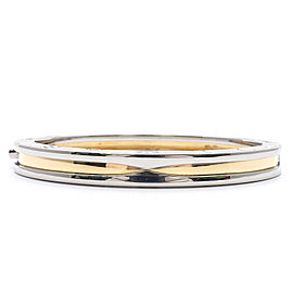 Bulgari B-Zero 1 18K Yellow Gold & Stainless Steel Bangle Bracelet