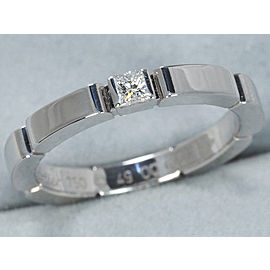 Cartier Maillon Panthere Ring 18K White Gold and Diamond Size 4.75