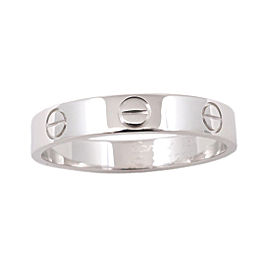 Cartier Mini Love Ring 18K White Gold Size 8