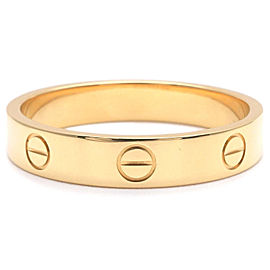 Cartier Mini Love Ring 18K Yellow Gold Size 9