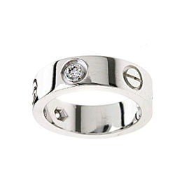 Cartier Love Ring 18K White Gold with Diamond Size 4.5