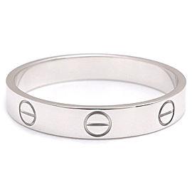 Cartier Mini Love Ring 18K White Gold Size 9