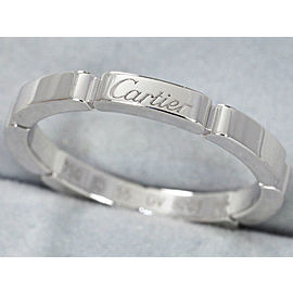 Cartier Maillon Panthere Ring 18K White Gold Size 7.25