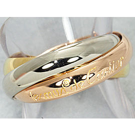 Cartier Trinity Ring 18K Tri-Gold Size 5.75