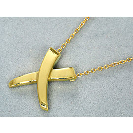 Tiffany & Co. 18K Yellow Gold Paloma Picasso X Kiss Necklace