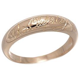 Van Cleef & Arpels 18K Pink Gold Signature Ring Size 8.0