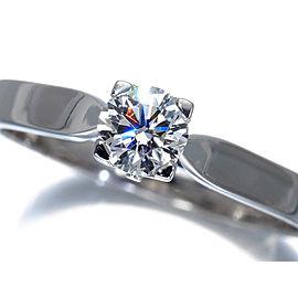 Van Cleef & Arpels 950 Platinum 0.30ctw Diamond Ring Size 5.5