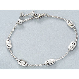 Bulgari 18K White Gold Parentesi Chain Bracelet