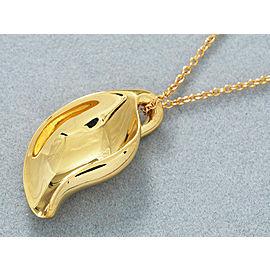 Tiffany & Co. 18K Yellow Gold Elsa Peretti Leaf Necklace