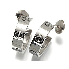 Cartier Love Earrings 18K White Gold