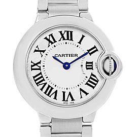 Cartier Ballon Blue W69010Z4 Womens 29mm Watch