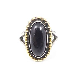 Georg Jensen 925 Sterling Silver Garnet Ring Size 5.25