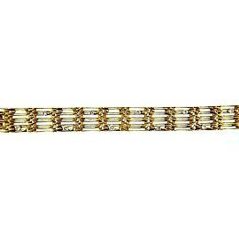 Chaumet 18K Yellow Gold Diamond Vintage Bracelet