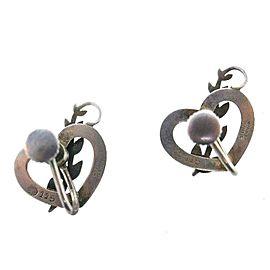 George Jensen Sterling Silver Vintage Heart Earrings