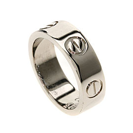 Cartier Love Ring 18K White Gold Size 4