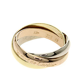 Cartier Trinity Ring 18K Yellow, Rose and White Gold Size 6