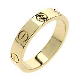 Cartier Mini Love Ring 18K Yellow Gold Size 4