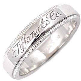 Tiffany & Co. Notes Band Milgrain Ring Platinum Size 4.5