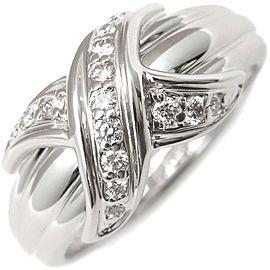 Tiffany & Co. Signature 18K White Gold Diamond Rings Size 6.5