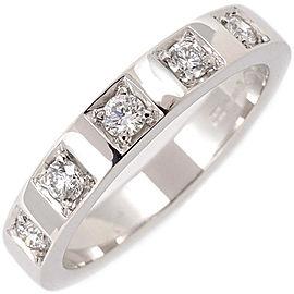 Bulgari Marry Me Platinum Diamond Rings Size 4.5