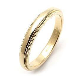 Tiffany & Co. Milgrain 18k Yellow Gold Rings Size 8