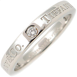 Tiffany & Co. Platinum Diamond Rings Size 5.5